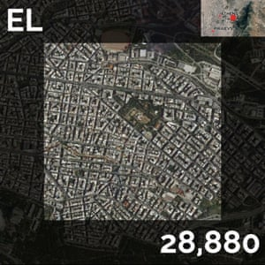 EL - population density maps - athens