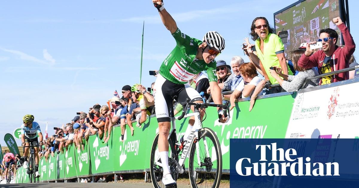 Mathieu van der Poel pips Matteo Trentin to keep Tour of Britain lead