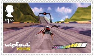 Classic PlayStation racer WipEout - so influential it became a postage stamp.