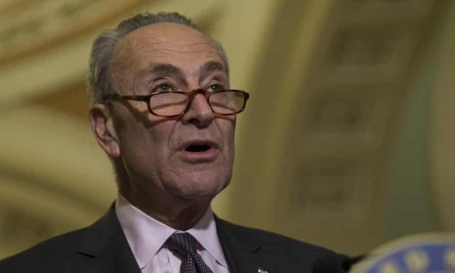 Senate Democrat leader Chuck Schumer called on Trump to signal he is 'ready and willing to address this issue of gun safety head-on'.
