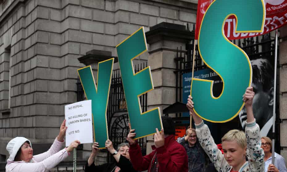 Campaigning outside parliament in Dublin this week