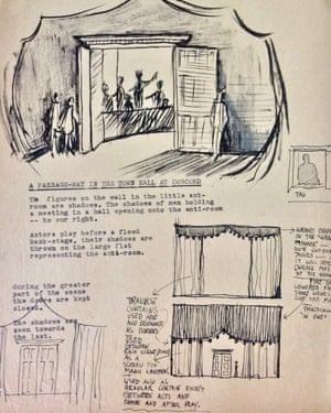 Orson Welles's set design for Marching Song