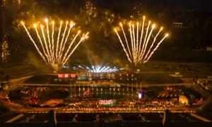 fireworks as part of the Kynren show.