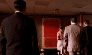 Bertram Cooper's Rothko in Mad Men.