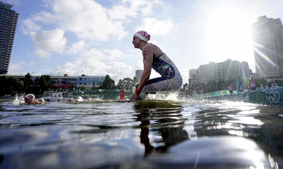 Haley Anderson starts her marathon swim on Wednesday