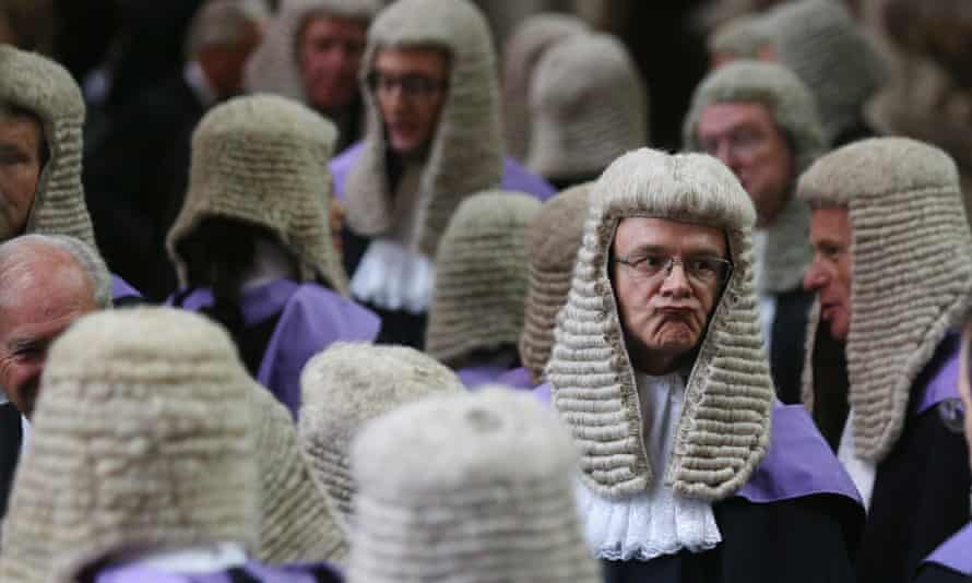 Judges at a traditional service in Westminster Abbey