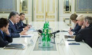 Boris Johnson meets Ukrainian ministers