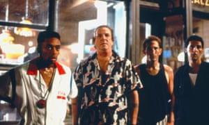 Spike Lee, Danny Aiello, Richard Edson, John Turturro in Do the Right Thing