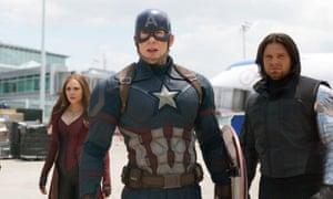 A scene from Captain America: Civil War.