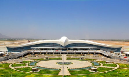 Ashgabat airport, built in the shape of a giant bird.