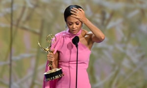 Thandie Newton won outstanding supporting actress in a drama series for Westworld.