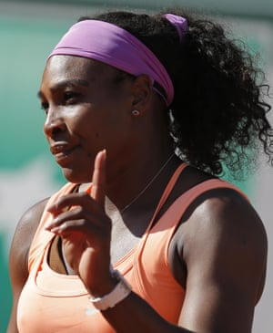 Serena Williams makes a point.