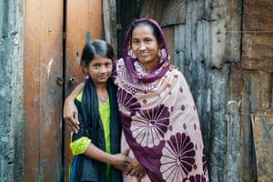 Nur Jahan, 25, with her daughter Tisha, 10.