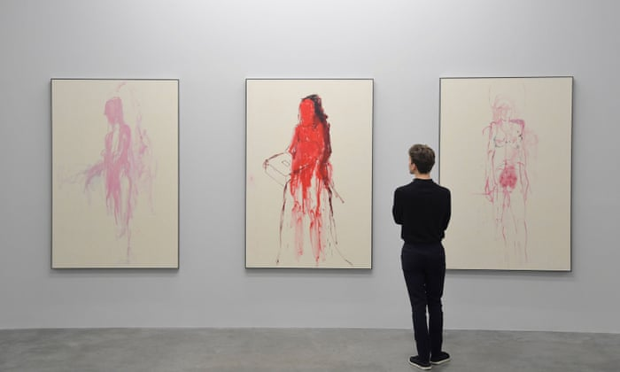 Tracey Emin Review Brutal Portraits Of Female Pain Art And Design The Guardian