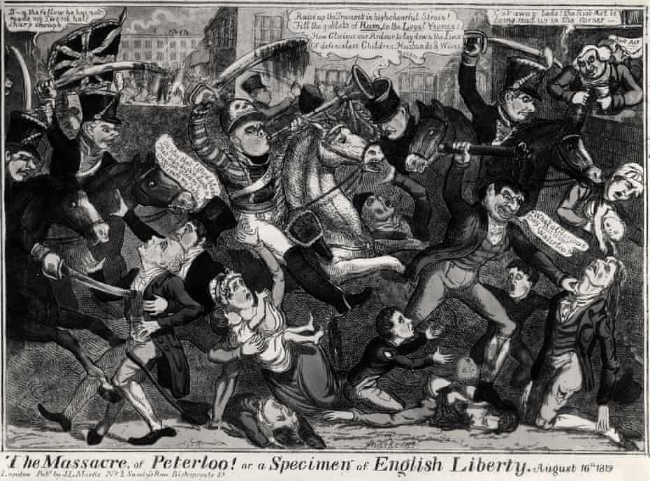 The Massacre of Peterloo! or a Specimen of English Liberty by JL Marks.