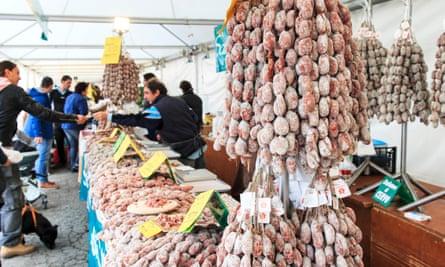 Italian salami stall