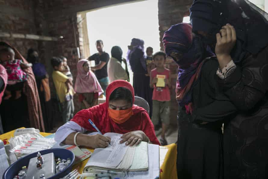 Rural children in Bangladesh are vaccinated