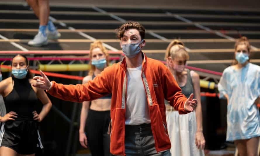 'This is how I understand the world' ... Drew McOnie, during rehearsals for Carousel, Regent's Park theatre.