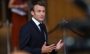 The French president, Emmanuel Macron