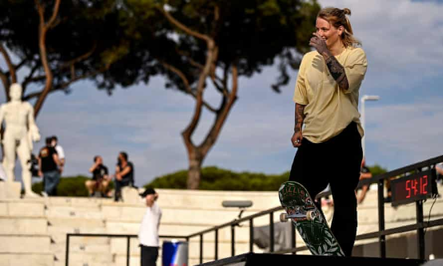 Candy Jacobs competing at the world championship in Rome earlier this year