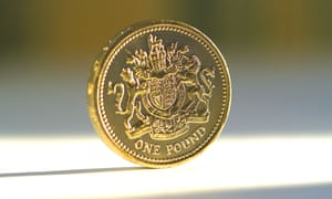 A shiny new £1 coin