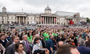 Thousands of people gather in Trafalgar Square to celebrate Jo Cox's life.