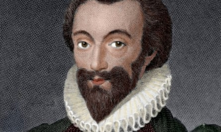 'Astonishing' … detail from an engraving of John Donne by William Bromley.