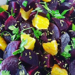 Beetroot and orange salad from Katy's Kitchen.