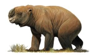 The giant Diprotodon