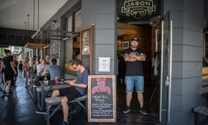 Jason Lilley, owner of Bree Street's Jason Bakery, Cape Town, stood in the storefront of his bakery.