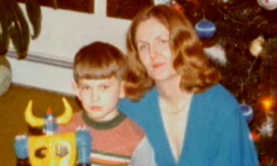 David Holthouse with his mother. He was just seven when he was raped by the family friend, who was 14