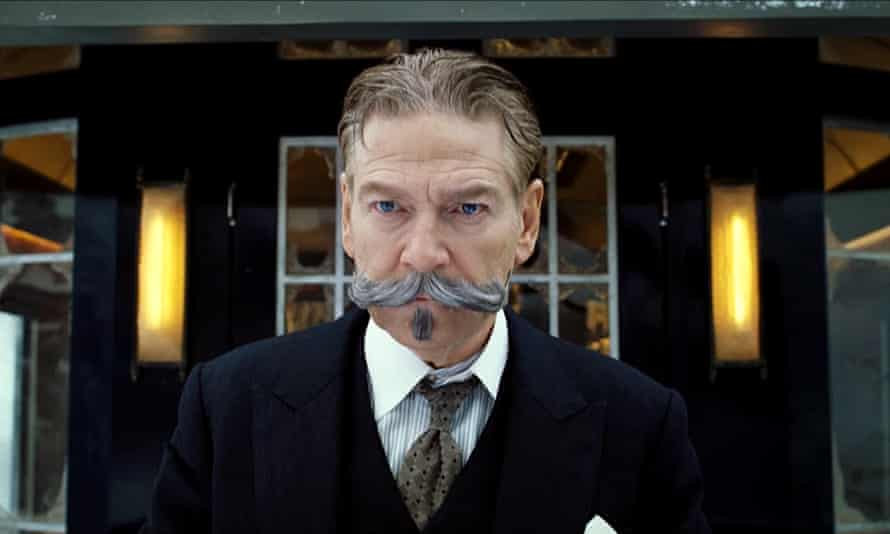 Kenneth Branagh as Hercule Poirot in Murder On The Orient Express .