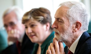 Jeremy Corbyn with Emily Thornberry and John McDonnell