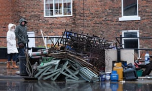 Damage caused to homes by Storm Frank