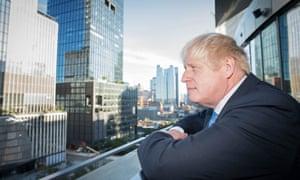 Boris Johnson in New York this morning.