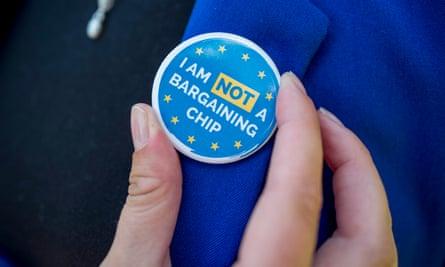 Badge saying: I am not a bargaining chip