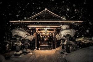 A shrine, dedicated to the sun goddess Amaterasu, that borders the prefectures of Aomori, Iwate and Akita