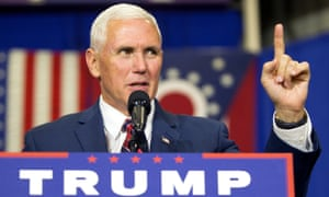 Mike Pence speaks in Rossford, Ohio. He says he will not withdraw from the Republican presidential ticket.
