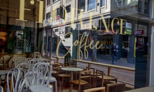 Closed up Melbourne cafe amid lockdown