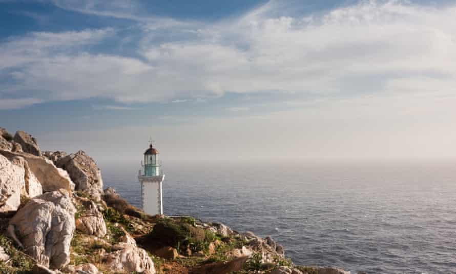 The lighthouse at Cape Tenaro.