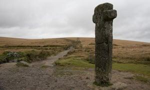 A medieval cross on Dartmoor.