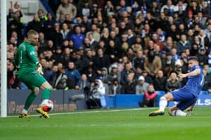 Giroud slots the cross home for Chelsea's fourth.