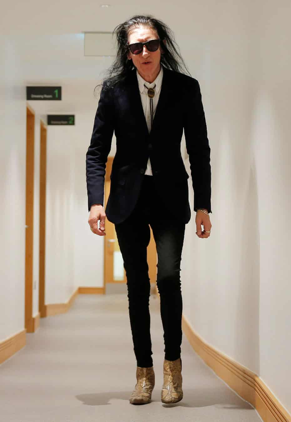 John Cooper Clarke at the Contains Strong Language spoken word festival at the University of Hull in 2017
