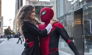 Zendaya and Tom Holland in Spider-Man: Far From Home.