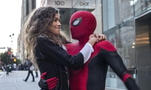 Zendaya Maree Stoermer Coleman and Tom Holland in Spider-Man: Far from Home