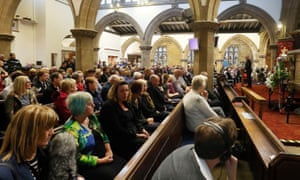 A vigil for Jo Cox at St Peter's church in Birstall, west Yorkshire on Thursday night.