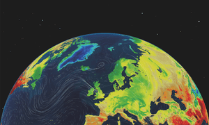 The Met Office's Visual Cortex gives weather presenters the ability to manipulate maps using touch screen technology.