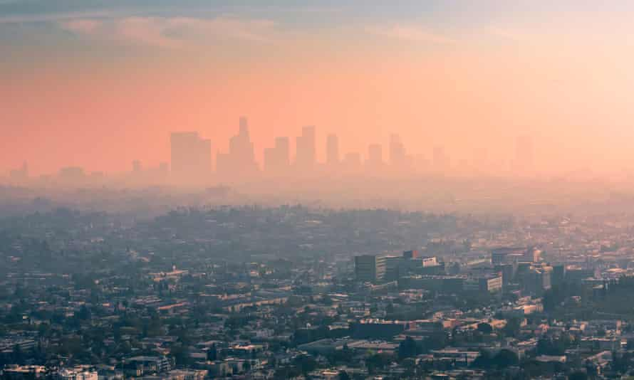 Smog hangs over Los Angeles, one of the cities to score the lowest, F, rating in the air quality report.
