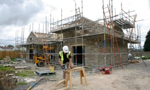 Social housing being built on behalf of the community in the village of Hudswell, North Yorkshire.