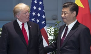 Donald Trump and Xi Jinping, pictured at July's G20 summit in Hamburg.